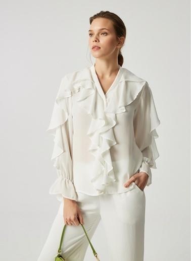 Monamoda Bluz Beyaz